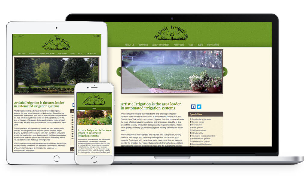 Artistic Irrigation website