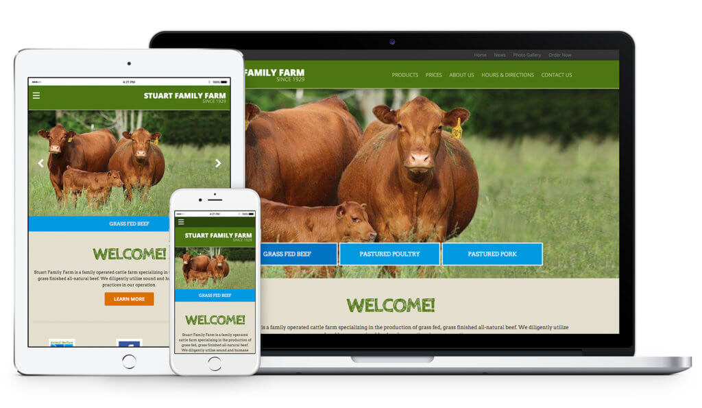 Stuart Family Farm website