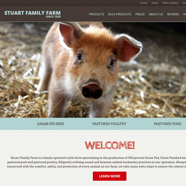 Stuart Family Farm website thumbnail