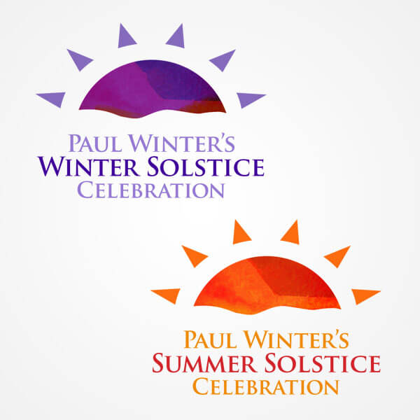 Living Music Winter and Summer Solstice logos